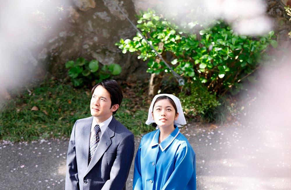 皆実の弟「旭」役:浅利陽介さんと「京花」役の小芝風花さん