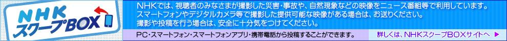 「NHKスクープBOX」PC・スマートフォン・スマートフォンアプリ・携帯電話から投稿することができます。