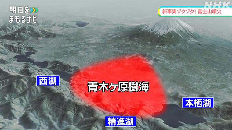 貞観噴火で流れ出した溶岩