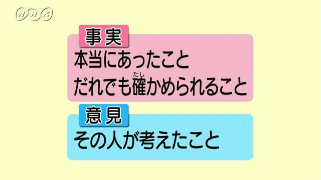 事実?意見?~事実と意見を区別する~   わかる国語 読み書きのツボ ...