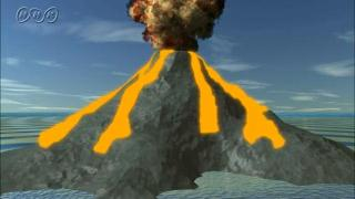 地形を変える火山活動