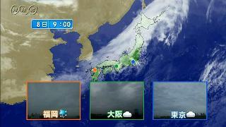 福岡、大阪、東京の天気
