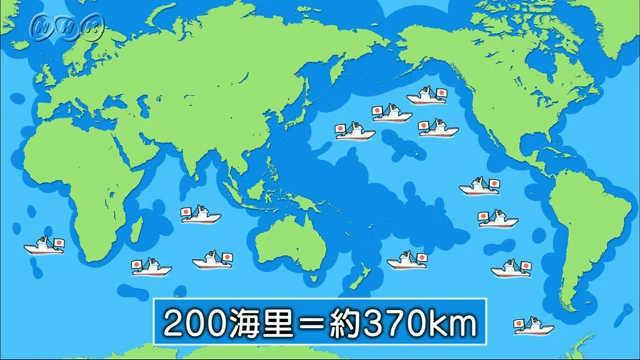 200海里水域制限(かいりすいいきせいげん)と遠洋漁業   NHK for School