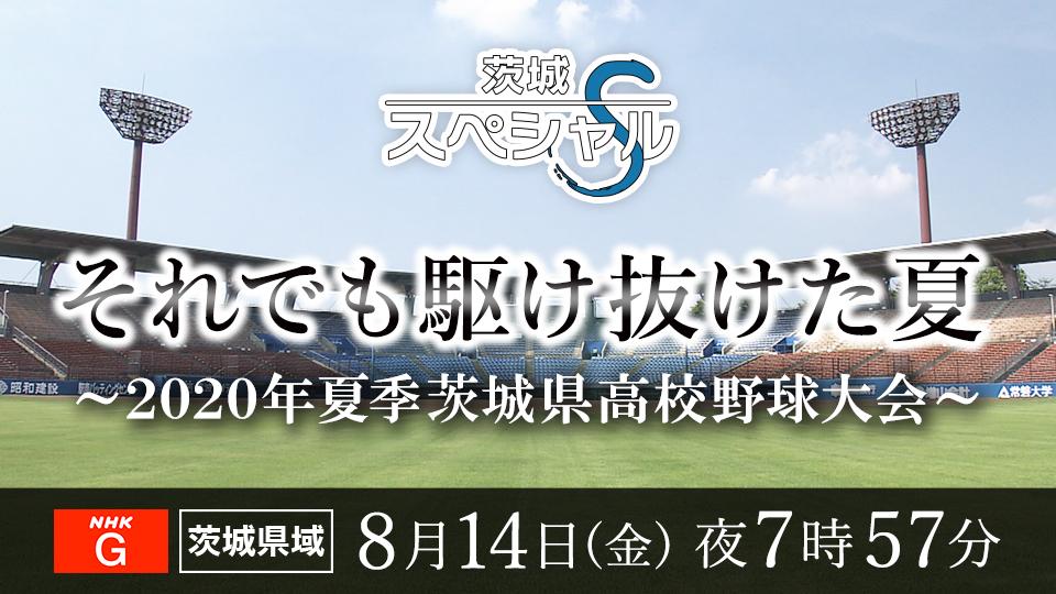 茨城スペシャル「それでも駆け抜けた夏」2020年夏季茨城県高校野球大会