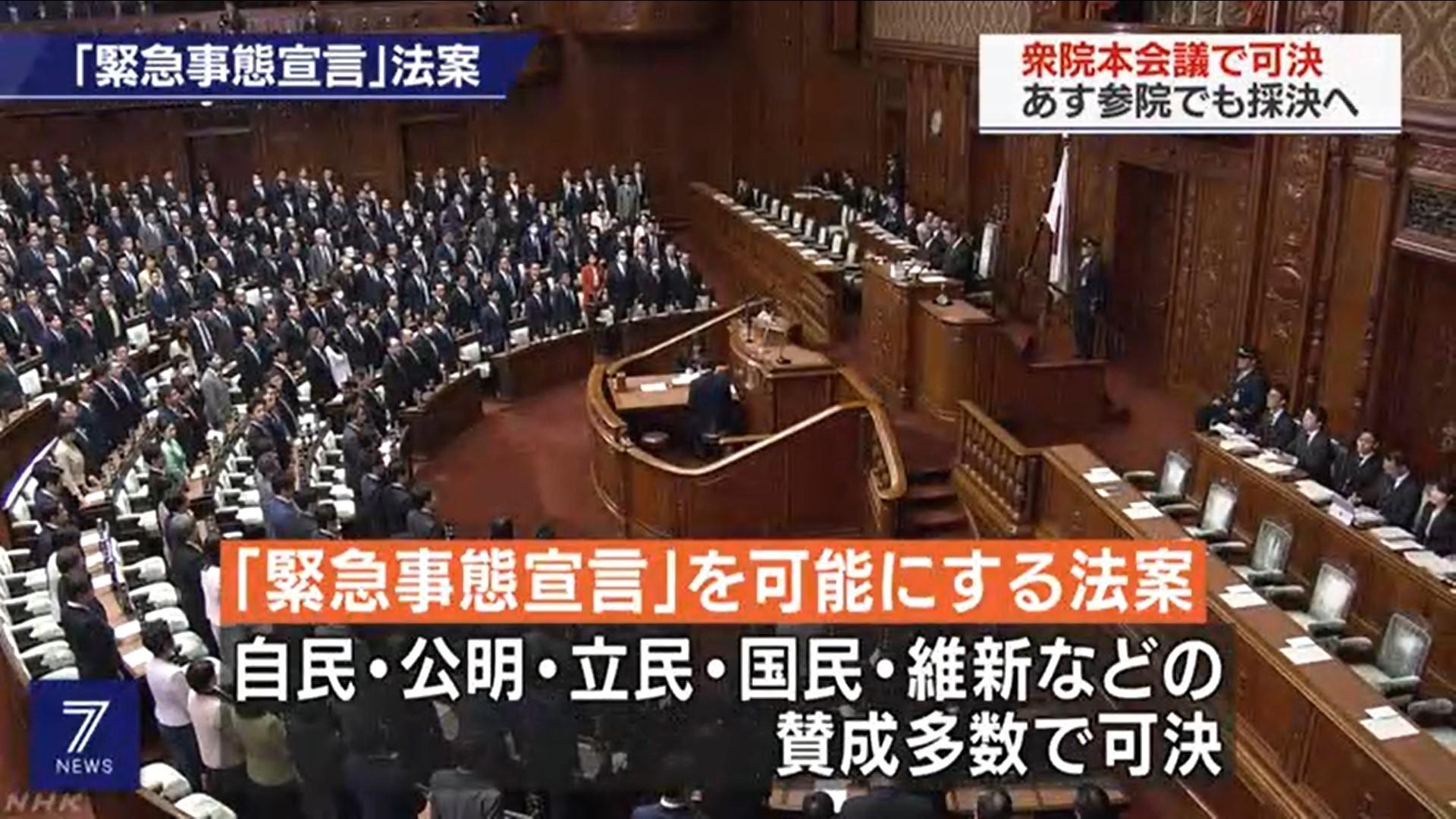 緊急事態宣言」可能にする法案 衆院で可決 | 注目の発言集 | NHK政治 ...